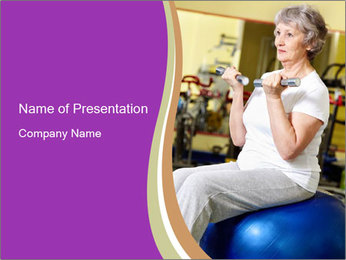 Sporty Senior Woman PowerPoint Template