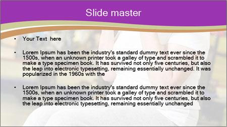 Sporty Senior Woman PowerPoint Template - Slide 2
