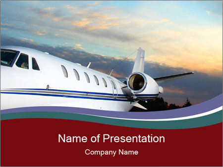 Private Plane PowerPoint Template