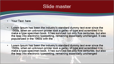 Private Plane PowerPoint Template - Slide 2