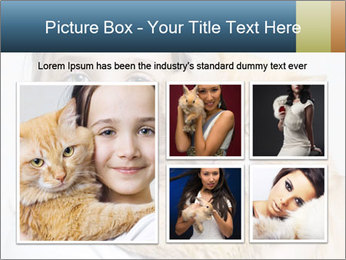 Young Girl With Red Cat PowerPoint Template - Slide 19