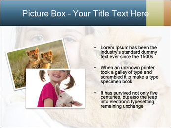 Young Girl With Red Cat PowerPoint Template - Slide 20