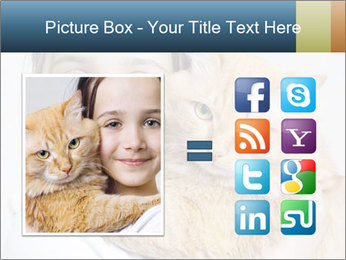 Young Girl With Red Cat PowerPoint Templates - Slide 21