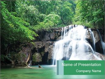 Exotic Waterfall PowerPoint Template - Slide 1