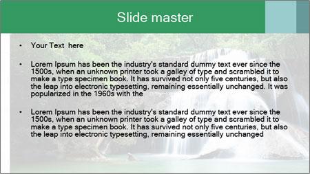 Exotic Waterfall PowerPoint Template - Slide 2