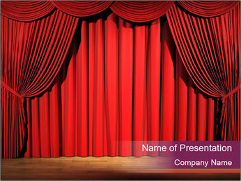 Classic Stage PowerPoint Template - Slide 1