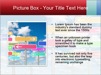Colorful Road Signs PowerPoint Template - Slide 13