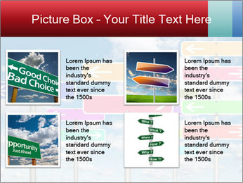 Colorful Road Signs PowerPoint Template - Slide 14