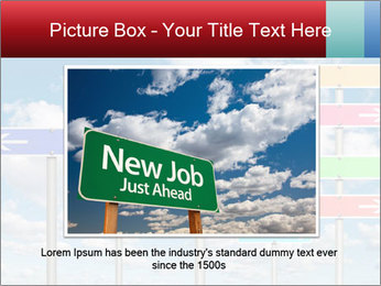 Colorful Road Signs PowerPoint Template - Slide 15