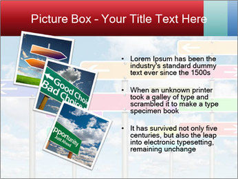 Colorful Road Signs PowerPoint Template - Slide 17