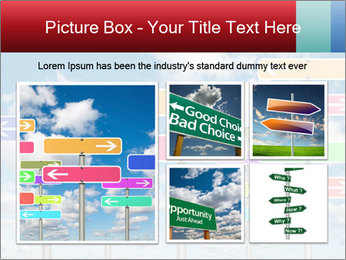 Colorful Road Signs PowerPoint Template - Slide 19