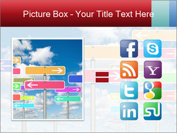 Colorful Road Signs PowerPoint Template - Slide 21