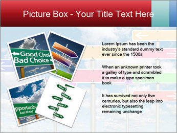 Colorful Road Signs PowerPoint Template - Slide 23