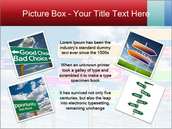 Colorful Road Signs PowerPoint Template - Slide 24