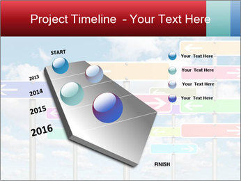 Colorful Road Signs PowerPoint Template - Slide 26