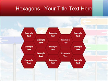 Colorful Road Signs PowerPoint Template - Slide 44