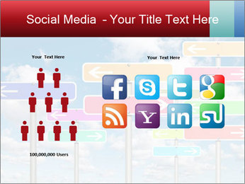 Colorful Road Signs PowerPoint Template - Slide 5
