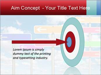 Colorful Road Signs PowerPoint Template - Slide 83