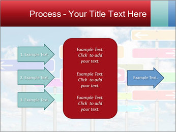 Colorful Road Signs PowerPoint Template - Slide 85