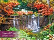Waterfall In Thailand PowerPoint Templates