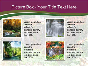 Waterfall In Thailand PowerPoint Templates - Slide 14