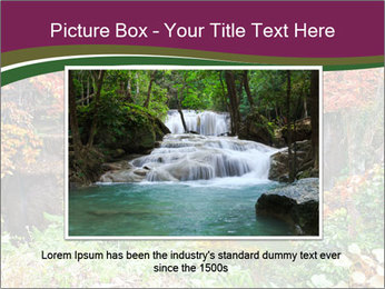 Waterfall In Thailand PowerPoint Templates - Slide 15