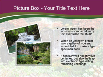 Waterfall In Thailand PowerPoint Templates - Slide 20
