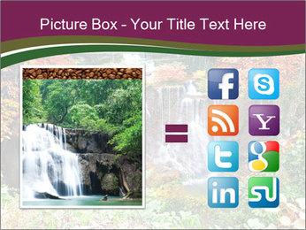 Waterfall In Thailand PowerPoint Templates - Slide 21
