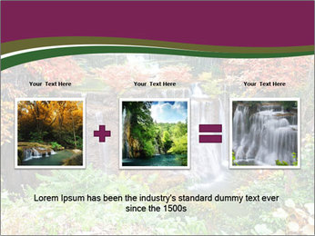 Waterfall In Thailand PowerPoint Templates - Slide 22
