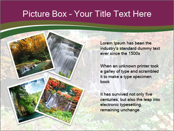 Waterfall In Thailand PowerPoint Templates - Slide 23
