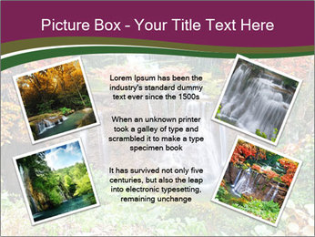 Waterfall In Thailand PowerPoint Templates - Slide 24