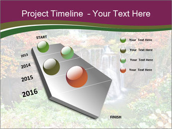 Waterfall In Thailand PowerPoint Template - Slide 26