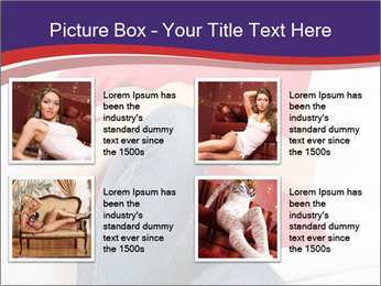 Woman With Red Pillow PowerPoint Template - Slide 14