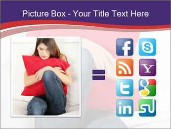 Woman With Red Pillow PowerPoint Template - Slide 21