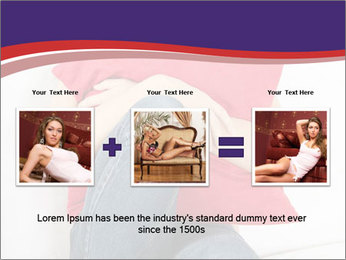 Woman With Red Pillow PowerPoint Template - Slide 22