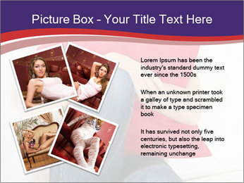 Woman With Red Pillow PowerPoint Templates - Slide 23