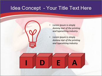 Woman With Red Pillow PowerPoint Template - Slide 80