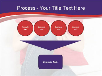Woman With Red Pillow PowerPoint Templates - Slide 93