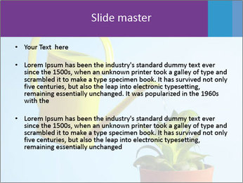 Plant And Wateringpot PowerPoint Template - Slide 2
