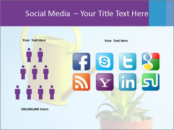 Plant And Wateringpot PowerPoint Templates - Slide 5