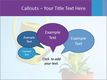 Plant And Wateringpot PowerPoint Templates - Slide 73