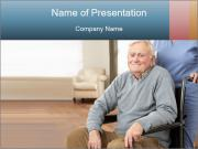 Disabled Old Man PowerPoint Templates