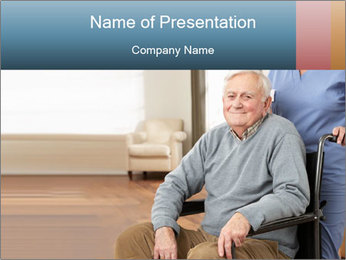 Disabled Old Man PowerPoint Template - Slide 1