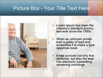 Disabled Old Man PowerPoint Template - Slide 13