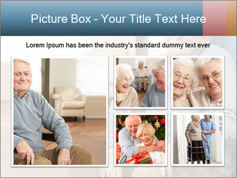 Disabled Old Man PowerPoint Template - Slide 19