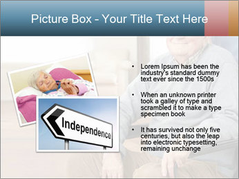 Disabled Old Man PowerPoint Template - Slide 20