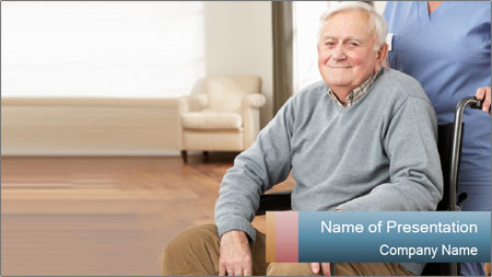 Disabled Old Man PowerPoint Template