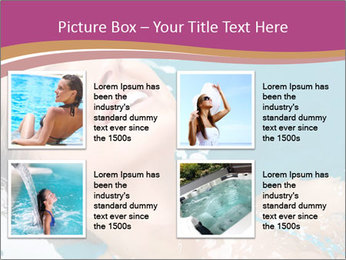 Happy Woman In Water PowerPoint Templates - Slide 14