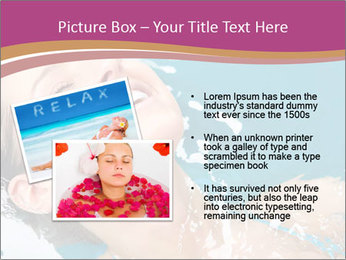 Happy Woman In Water PowerPoint Templates - Slide 20