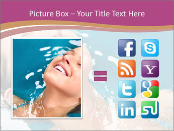 Happy Woman In Water PowerPoint Templates - Slide 21